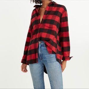 [Madewell] Oversized Ex-Boyfriend Shirt Flannel L